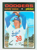1971 Topps Baseball 34 Sandy Vance Los Angeles Dodgers Excellent to Mint