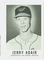 Jerry Adair AUTOGRAPH d.87 1960 Leaf BB #28 Orioles CARD IS VG; CRN-EDGE WEAR