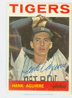 Hank Aguirre AUTOGRAPH d.94 1964 Topps #39 Tigers CARD IS VG/EX; CRN WEAR; AUTO CLEAN