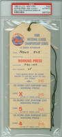 1969 New York Mets PRESS PASS vs Atlanta Braves NLCS Game 3 NY 7-4  WP Nolan Ryan - Mets Win Pennant!  - October 6, 1969 PSA/DNA Authentic