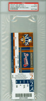 2010 Atlanta Braves FULL TICKET vs San Francisco Giants NLDS Game 4 SF 3-2  Bobby Cox Final Game  - October 11, 2010 PSA/DNA Authentic