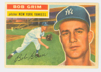 1956 Topps Baseball 52 Bob Grim New York Yankees Near-Mint White Back