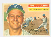1956 Topps Baseball 21 Joe Collins New York Yankees Excellent to Mint White Back