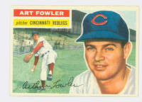 1956 Topps Baseball 47 Art Fowler Cincinnati Reds Excellent Grey Back