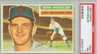 1956 Topps Baseball 327 Bob Wiesler Washington Senators PSA 7 Near Mint