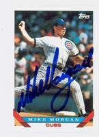 Mike Morgan AUTOGRAPH 1993 Topps Cubs 