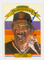 Vida Blue AUTOGRAPH 1982 Donruss #4 Diamond King Giants 