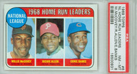 1969 Topps Baseball 6 NL HR Leaders PSA 8 Near Mint to Mint