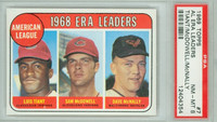 1969 Topps Baseball 7 AL ERA Leaders PSA 8 Near Mint to Mint