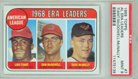 1969 Topps Baseball 7 AL ERA Leaders PSA 9 Mint