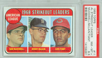 1969 Topps Baseball 11 AL Strikeout Leaders PSA 8.5 Near Mint to Mint Plus