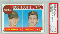 1969 Topps Baseball 536 Padres Rookies PSA 8 Near Mint to Mint