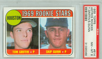 1969 Topps Baseball 614 Astros Rookies High Number PSA 8 Near Mint to Mint