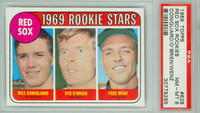 1969 Topps Baseball 628 Red Sox Rookies High Number PSA 8 Near Mint to Mint