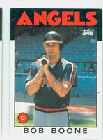 Bob Boone AUTOGRAPH 1986 Topps #62 Angels 