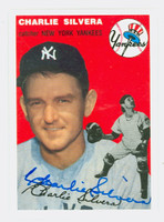 Charlie Silvera AUTOGRAPH Topps 1954 Archives Yankees   [SKU:SilvC112_T54BBRPHC]