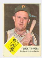 Smoky Burgess AUTOGRAPH d.91 1963 Fleer Pirates 