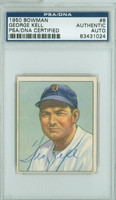 George Kell AUTOGRAPH d.09 1950 Bowman #8 Tigers PSA/DNA CARD IS CLEAN VG/EX