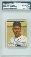 Don Kolloway AUTOGRAPH d.94 1950 Bowman #133 Tigers PSA/DNA CARD IS CLEAN EX