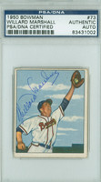 Willard Marshall AUTOGRAPH d.00 1950 Bowman #73 Braves PSA/DNA CARD IS CLEAN VG/EX