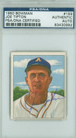 Joe Tipton AUTOGRAPH d.94 1950 Bowman #159 Athletics PSA/DNA CARD IS CLEAN VG/EX