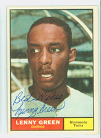 Lenny Green AUTOGRAPH 1961 Topps #4 Twins CARD IS CLEAN EX/MT