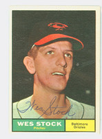 Wes Stock AUTOGRAPH 1961 Topps #26 Orioles CARD IS SHARP NEAR-MINT