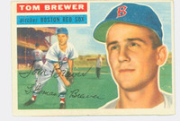 Tom Brewer AUTOGRAPH 1956 Topps #34 Red Sox CARD IS CLEAN VG/EX