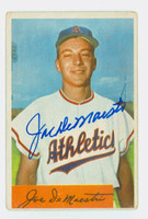 Joe DeMaestri AUTOGRAPH d.16 1954 Bowman #147 Athletics CARD IS G/VG