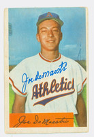 Joe DeMaestri AUTOGRAPH d.16 1954 Bowman #147 Athletics CARD IS F/G