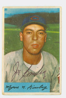 Joe Ginsberg AUTOGRAPH d.12 1954 Bowman #52 Indians CARD IS POOR