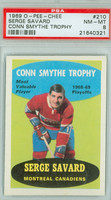 1969-70 OPC Hockey 210 Serge Savard Conn Smythe Winner Montreal Canadiens PSA 8 Near Mint to Mint