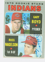 Boyd-Nagelson DUAL SIGNED 1970 Topps Indians Rookies #7 Indians CARD IS F/G