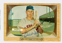 Vic Wertz AUTOGRAPH d.83 1955 Bowman #40  CARD IS CLEAN VG/EX