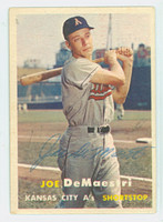 Joe DeMaestri AUTOGRAPH d.16 1957 Topps #44 Athletics CARD IS G/VG