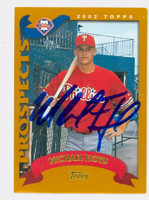Michael Floyd AUTOGRAPH 2002 Topps Phillies TRADED 
