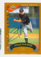 Brian Forystek AUTOGRAPH 2002 Topps Orioles TRADED 