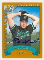Rob Henkel AUTOGRAPH 2002 Topps Marlins TRADED 