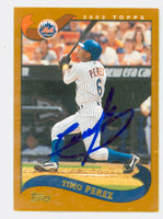 Timo Perez AUTOGRAPH 2002 Topps Mets 