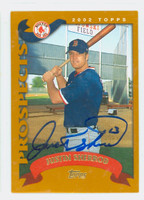 Justin Sherrod AUTOGRAPH 2002 Topps Red Sox TRADED 