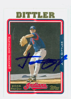 Jake Dittler AUTOGRAPH 2005 Topps Indians 
