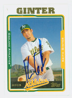 Keith Ginter AUTOGRAPH 2005 Topps Athletics 