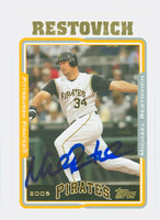 Michael Restovich AUTOGRAPH 2005 Topps Pirates 
