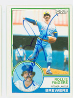 Rollie Fingers AUTOGRAPH 1983 O-PEE-CHEE #35 Brewers 