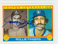 Rollie Fingers Super Vet AUTOGRAPH 1983 O-PEE-CHEE #36 Brewers 