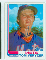Tom Veryzer AUTOGRAPH d.14 1982 Topps #123T Mets TRADED 