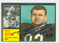 Mike Ditka AUTOGRAPH 1962 Topps Football #17 ROOKIE Card Bears INSCR HOF '88