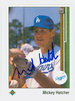 Mickey Hatcher AUTOGRAPH 1989 Upper Deck Dodgers 