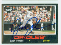 Jason Johnson AUTOGRAPH 2002 Upper Deck Vintage 1971 Topps Design Orioles 