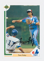 Tom Foley AUTOGRAPH 1991 Upper Deck Expos 